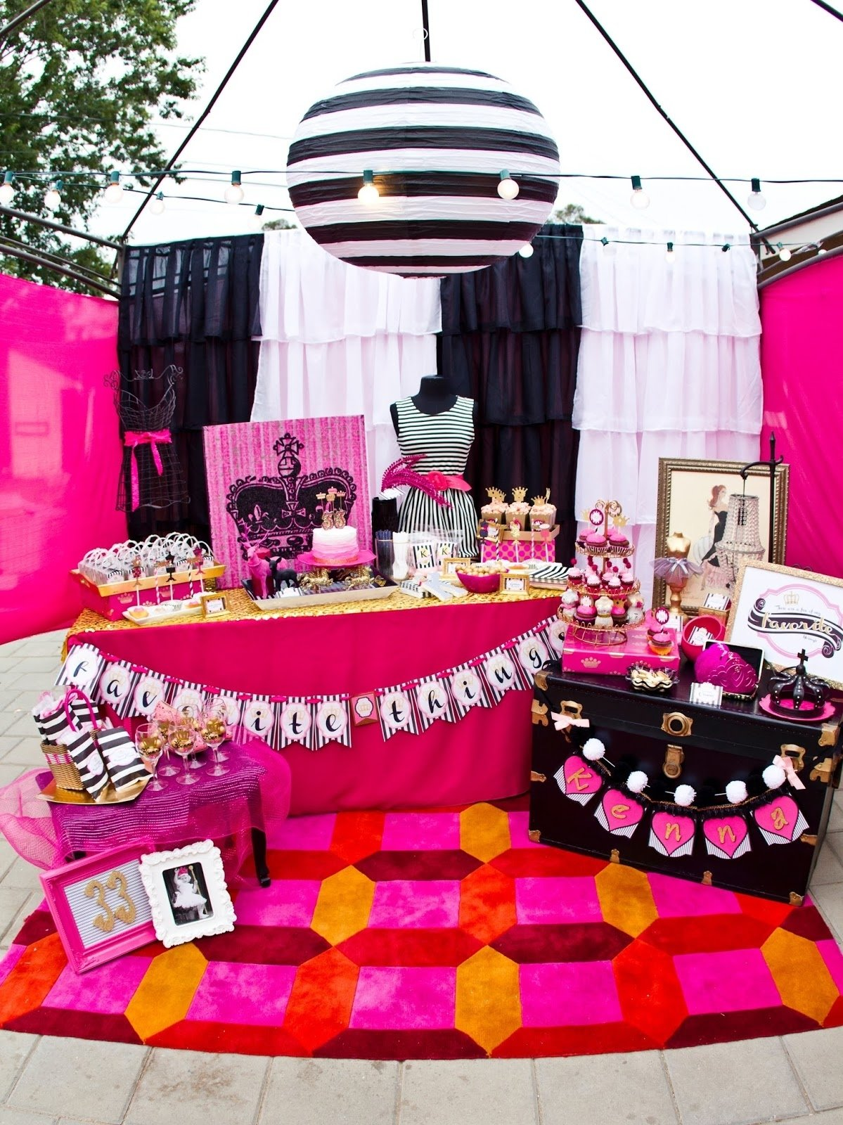 10 Lovely Birthday Celebration Ideas For Women miss party mom kennas favorite things 33rd birthday party