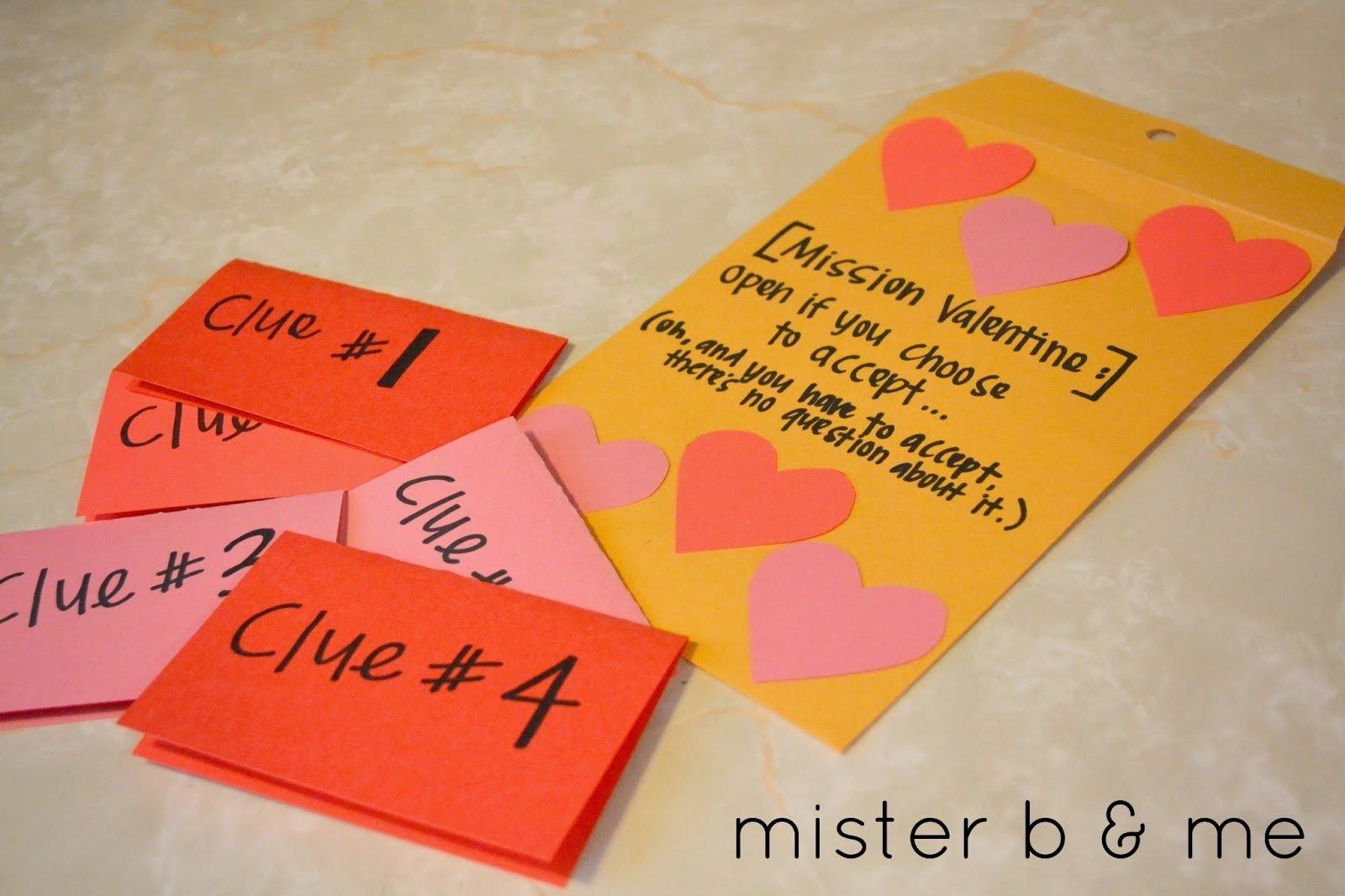10 Attractive Scavenger Hunt Ideas For Boyfriend mister b and me diy valentines scavenger hunt 2021