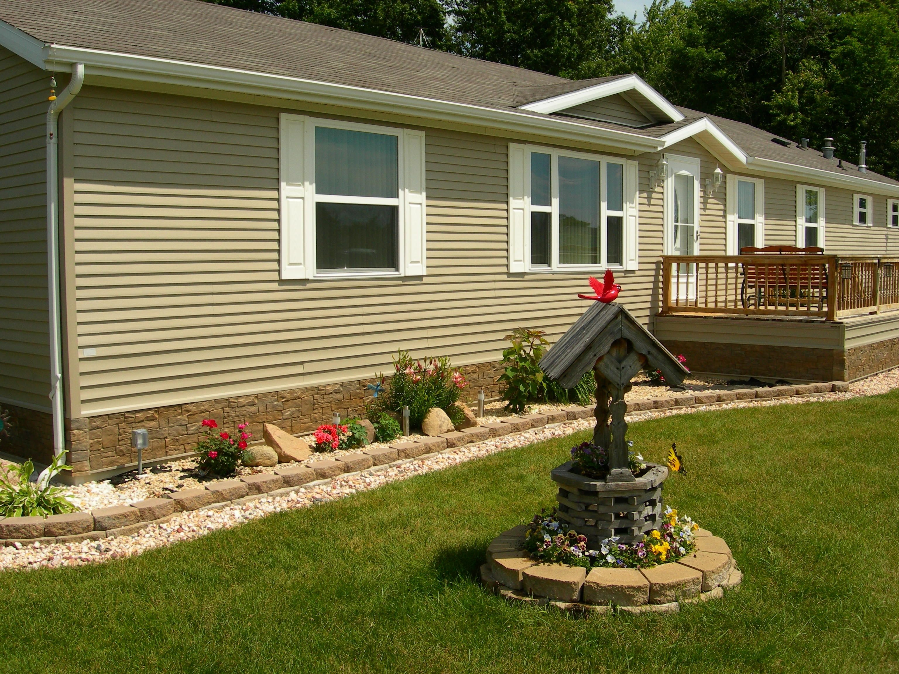 10 Most Recommended Landscaping Ideas For Mobile Homes mobile homes with brick skirting google search mobile home