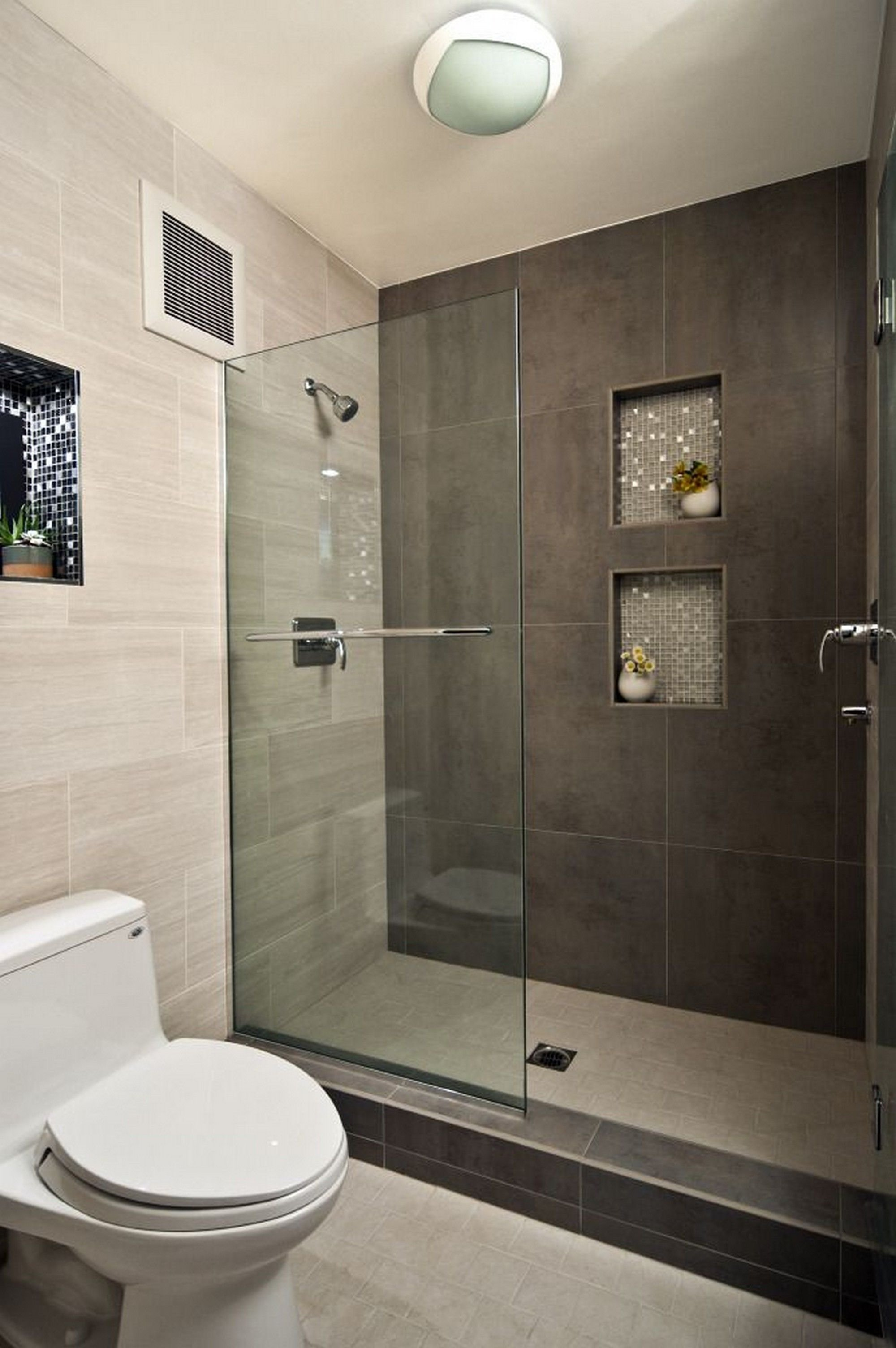 modern bathroom design ideas with walk in shower | small bathroom