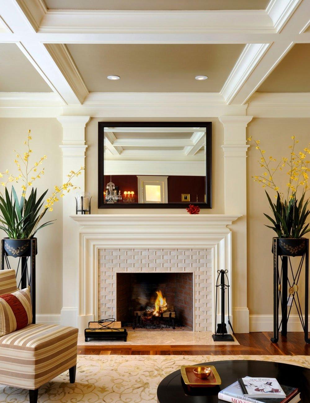 10 Unique Fireplace Design Ideas With Tile modern fireplace tile ideas 2021