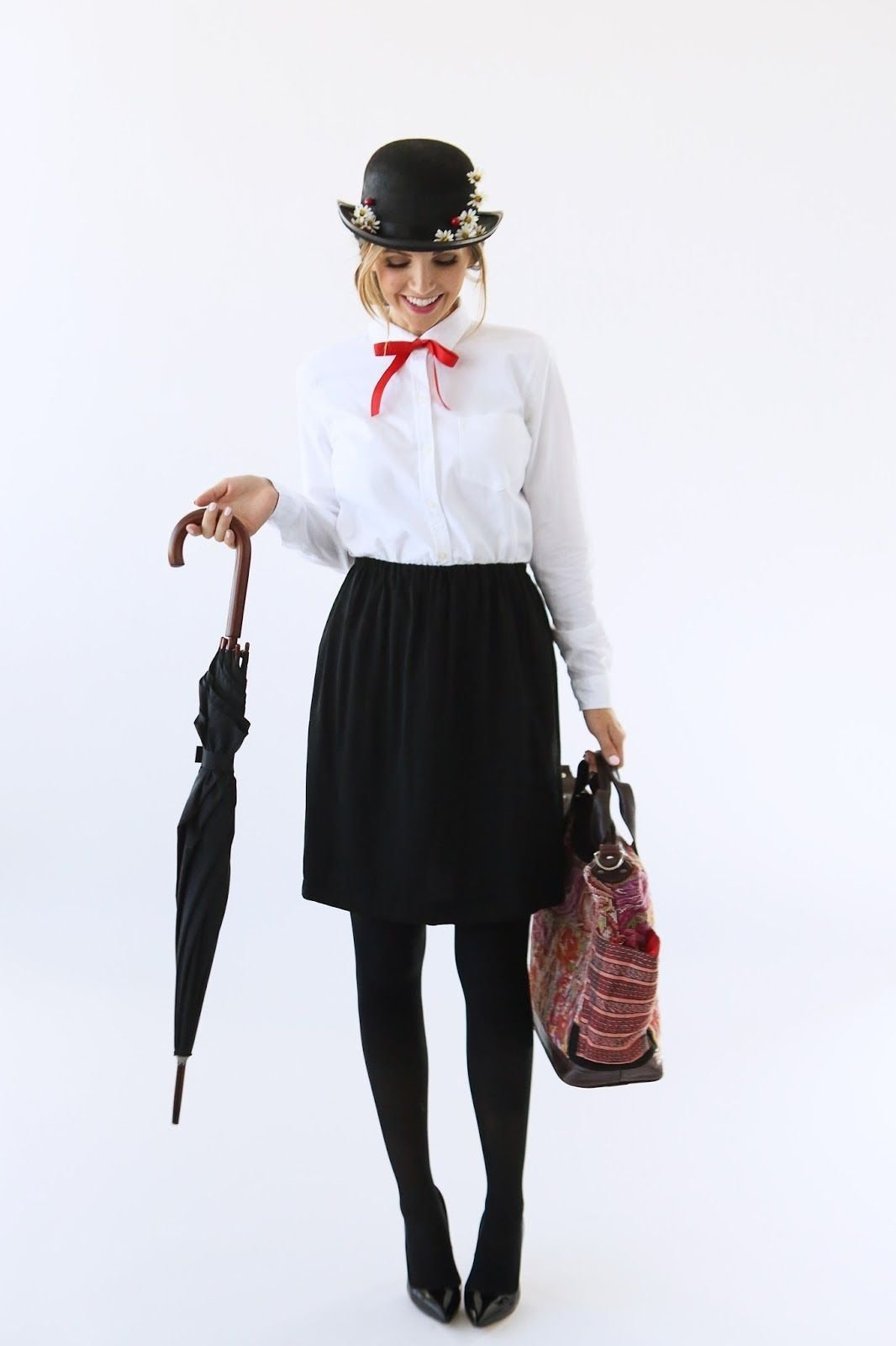 10 Best Black And White Costume Ideas modern girls halloween week mary poppins costume costumes