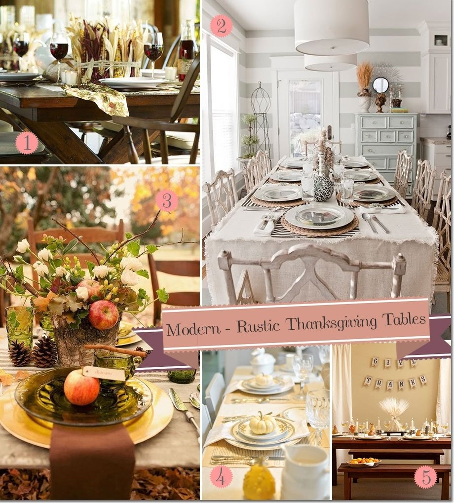 10 Attractive Table Setting Ideas For Thanksgiving modern rustic thanksgiving table settings 10 great ideas 2021