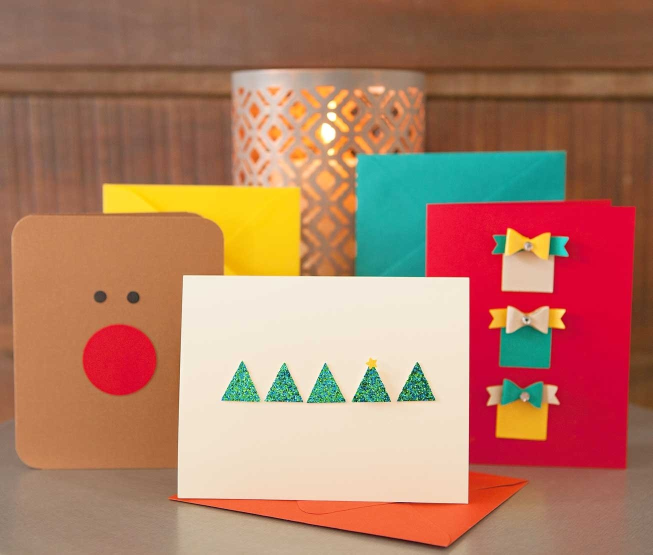 10 Pretty Ideas For Homemade Christmas Cards