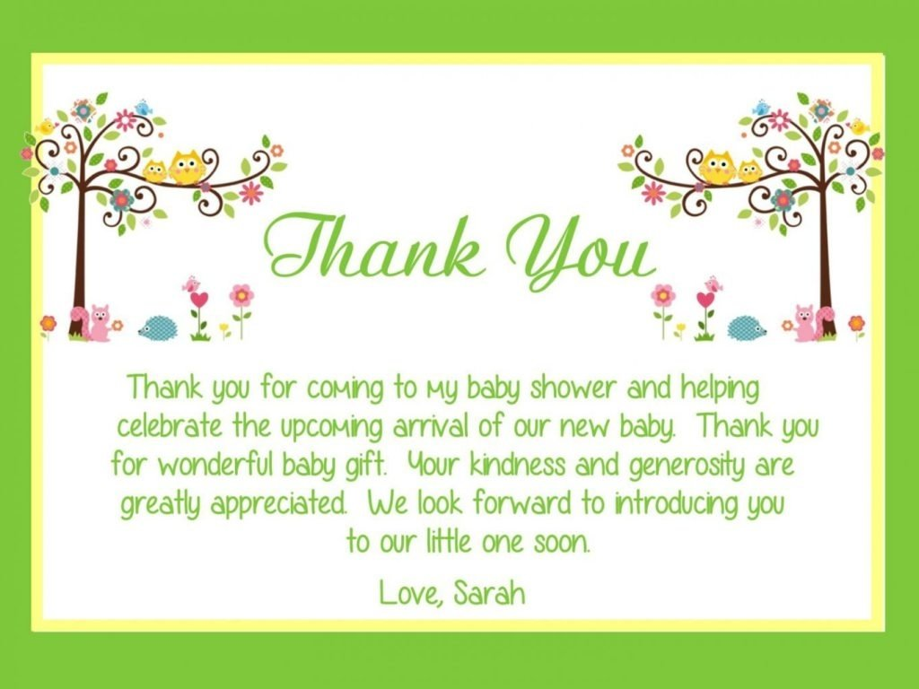 10 Fashionable Thank You Card Message Ideas modern thank youes for baby shower gifts wblqual throughout gift