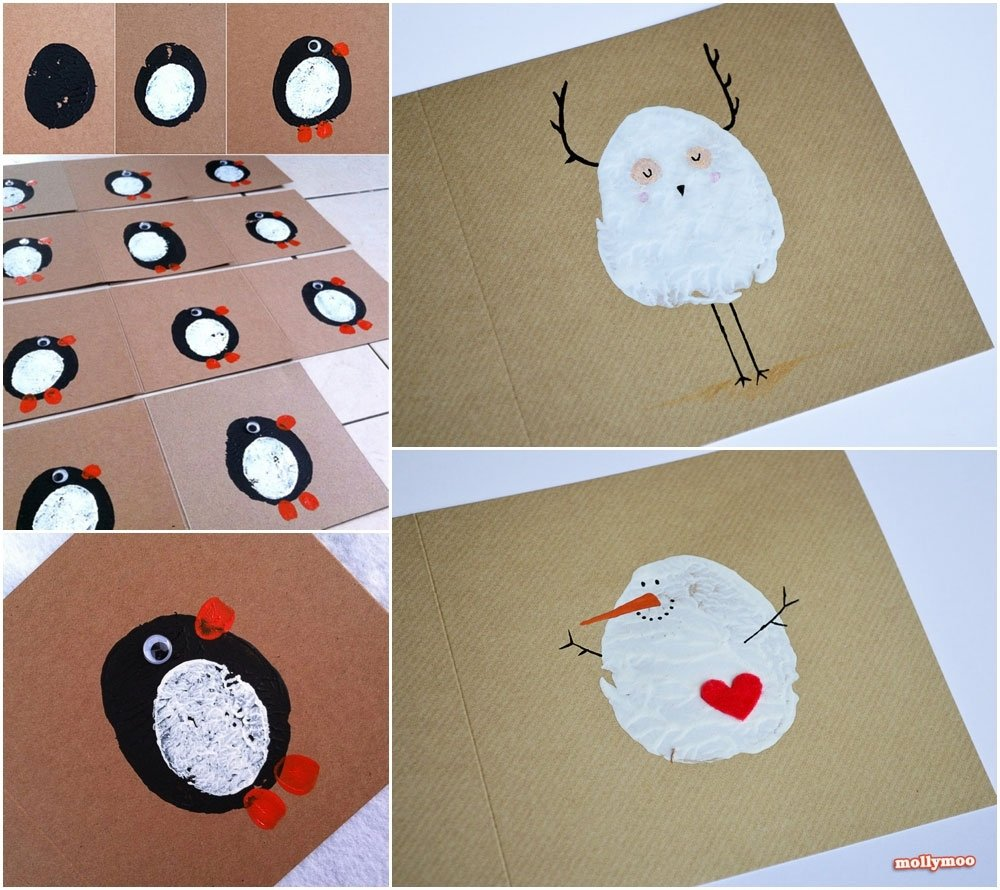 10 Trendy Cute Christmas Card Ideas For Kids mollymoocrafts cute christmas crafts collection 2021