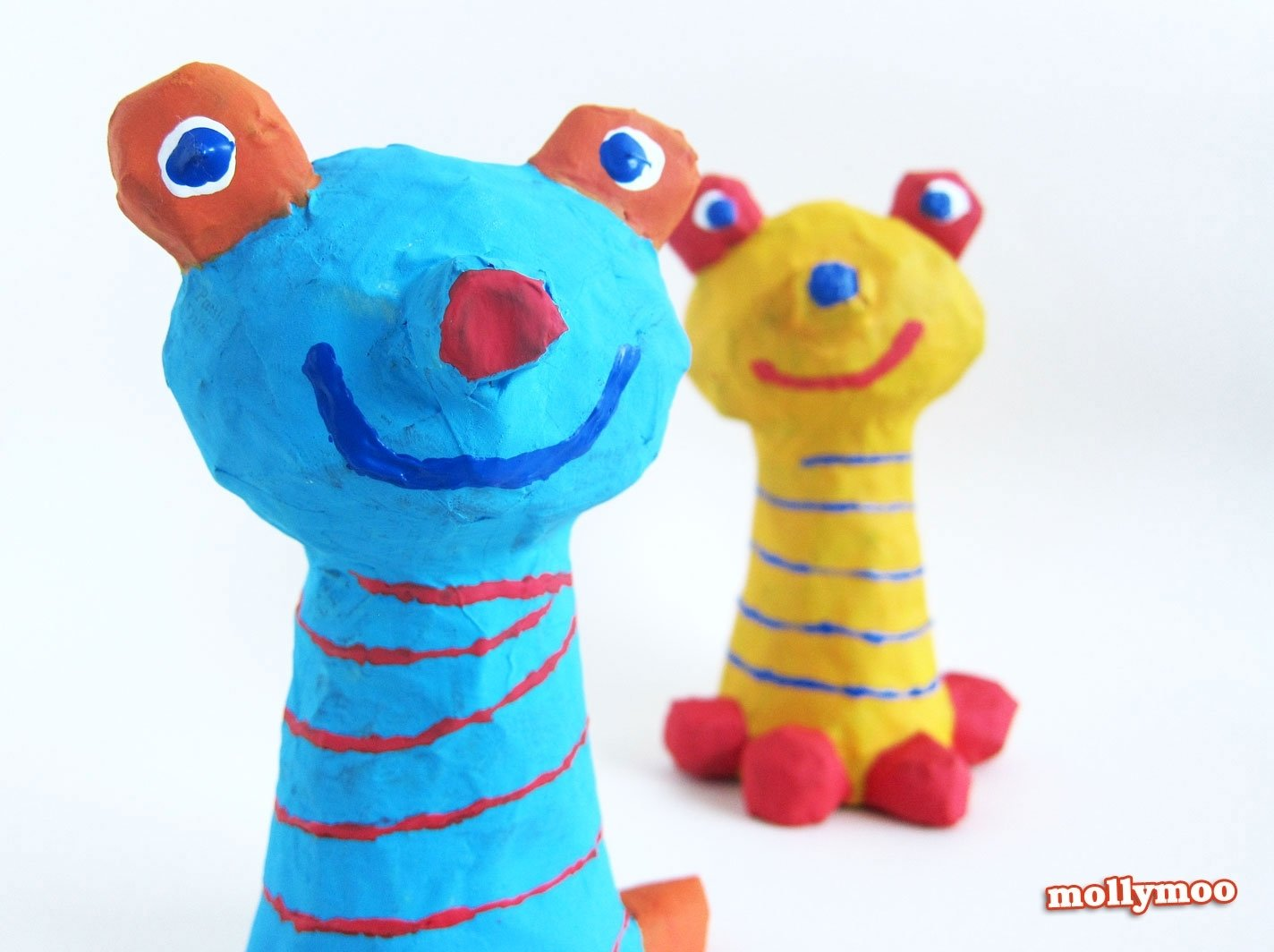 10 Lovable Paper Mache Ideas For Kids mollymoocrafts papier mache crafts for kids frog to inspire play 2021