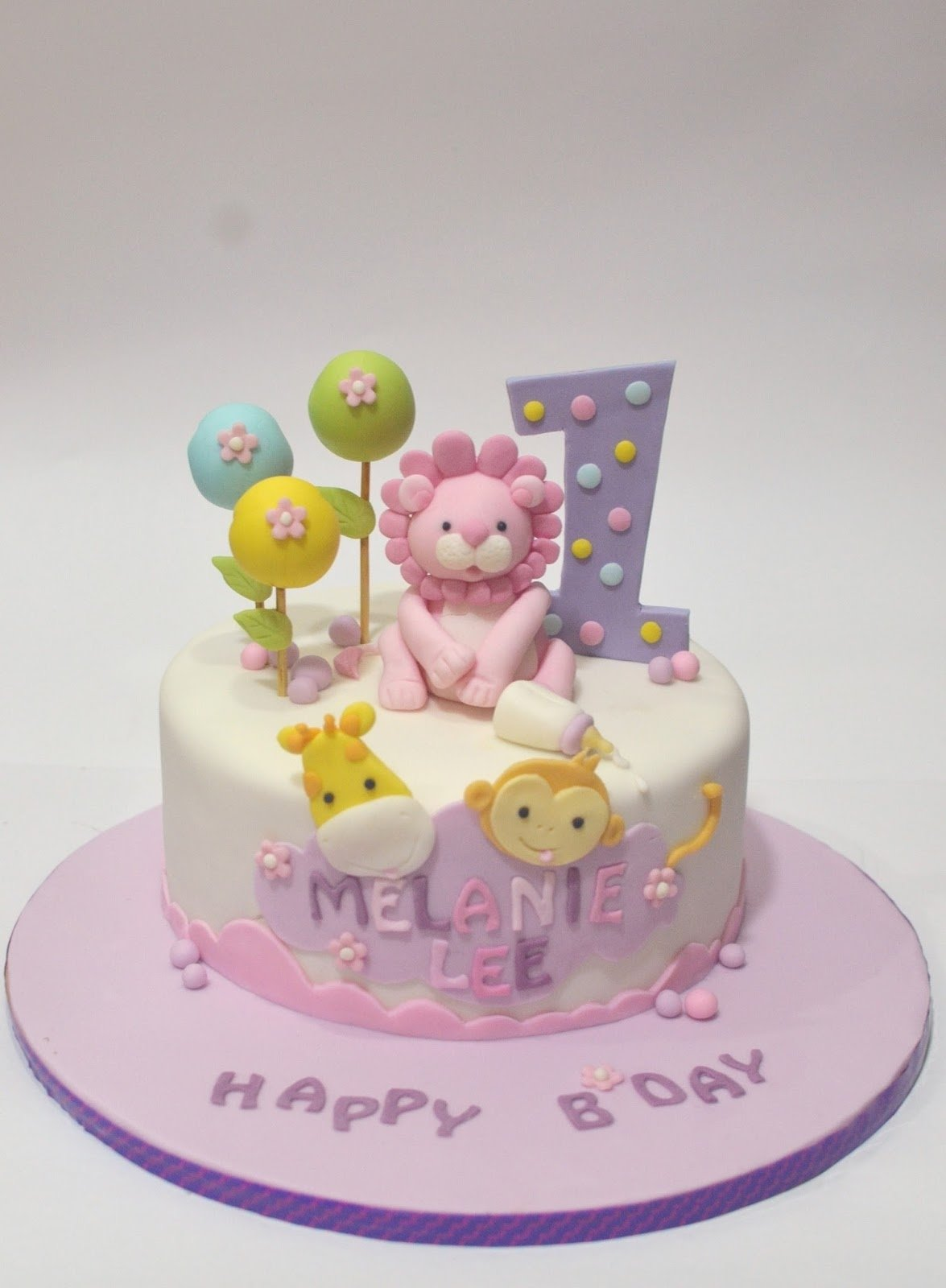 10 Famous 1 Year Old Birthday Cake Ideas mom and daughter cakes cute safari animals cake for one year old
