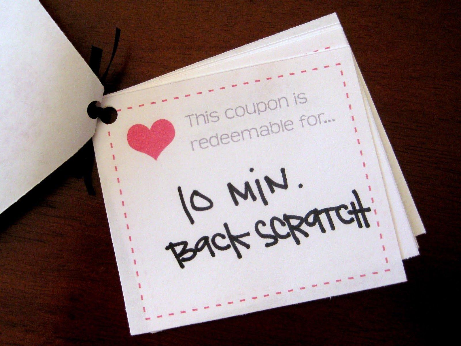 10 Elegant Homemade Coupon Book For Boyfriend Ideas