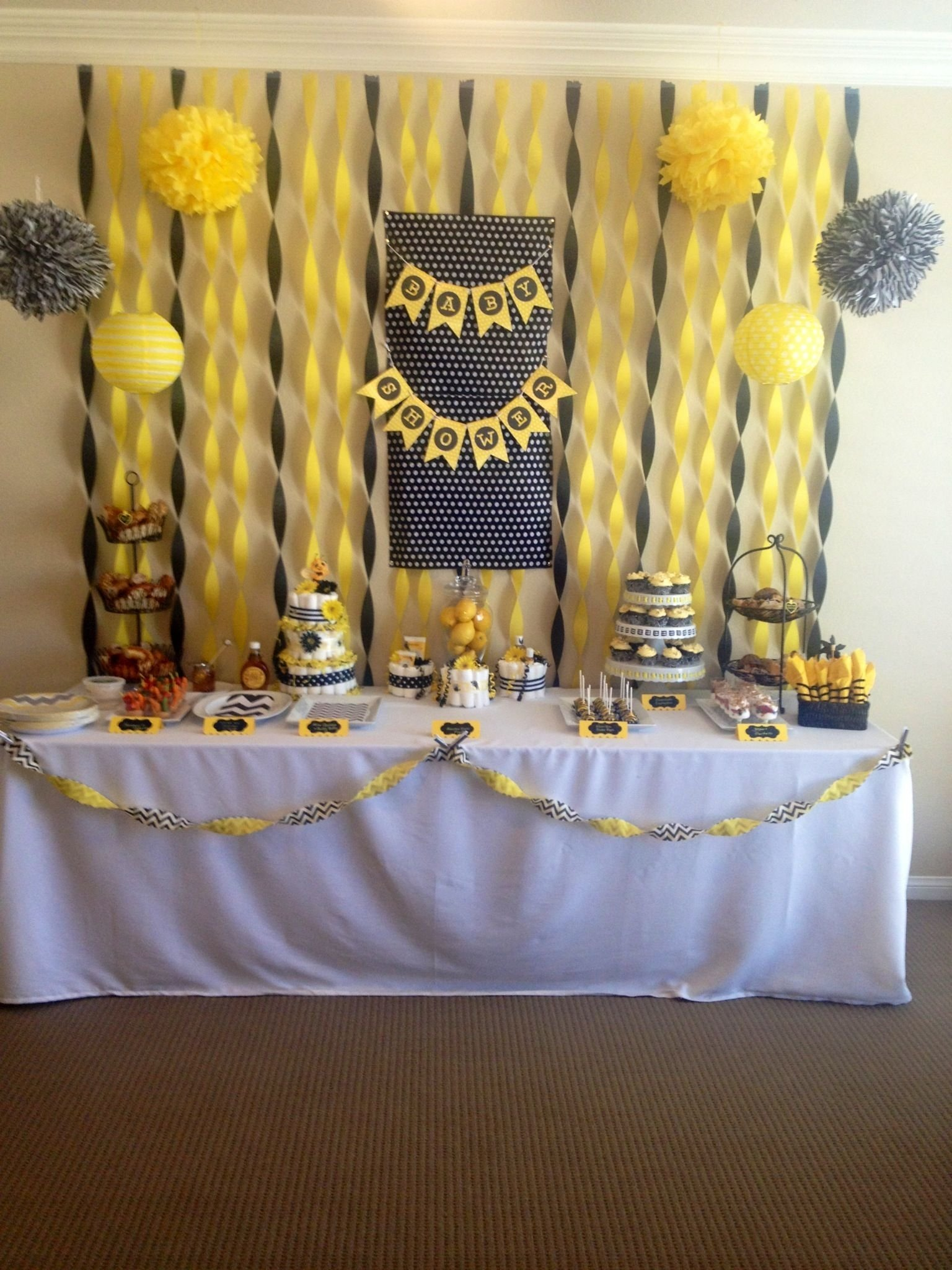 mommy to bee baby shower. bumble bee theme shower | baby shower