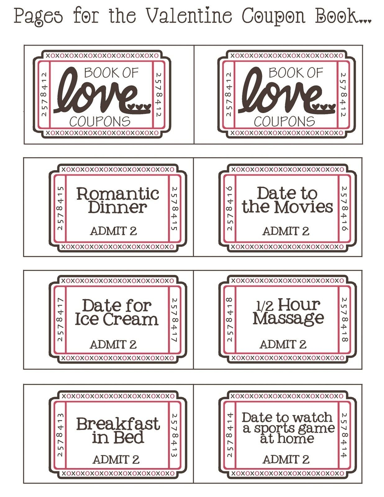 10 Most Recommended Cute Coupon Book Ideas For Boyfriend mommyday crafternight free printable valentine coupon 2020