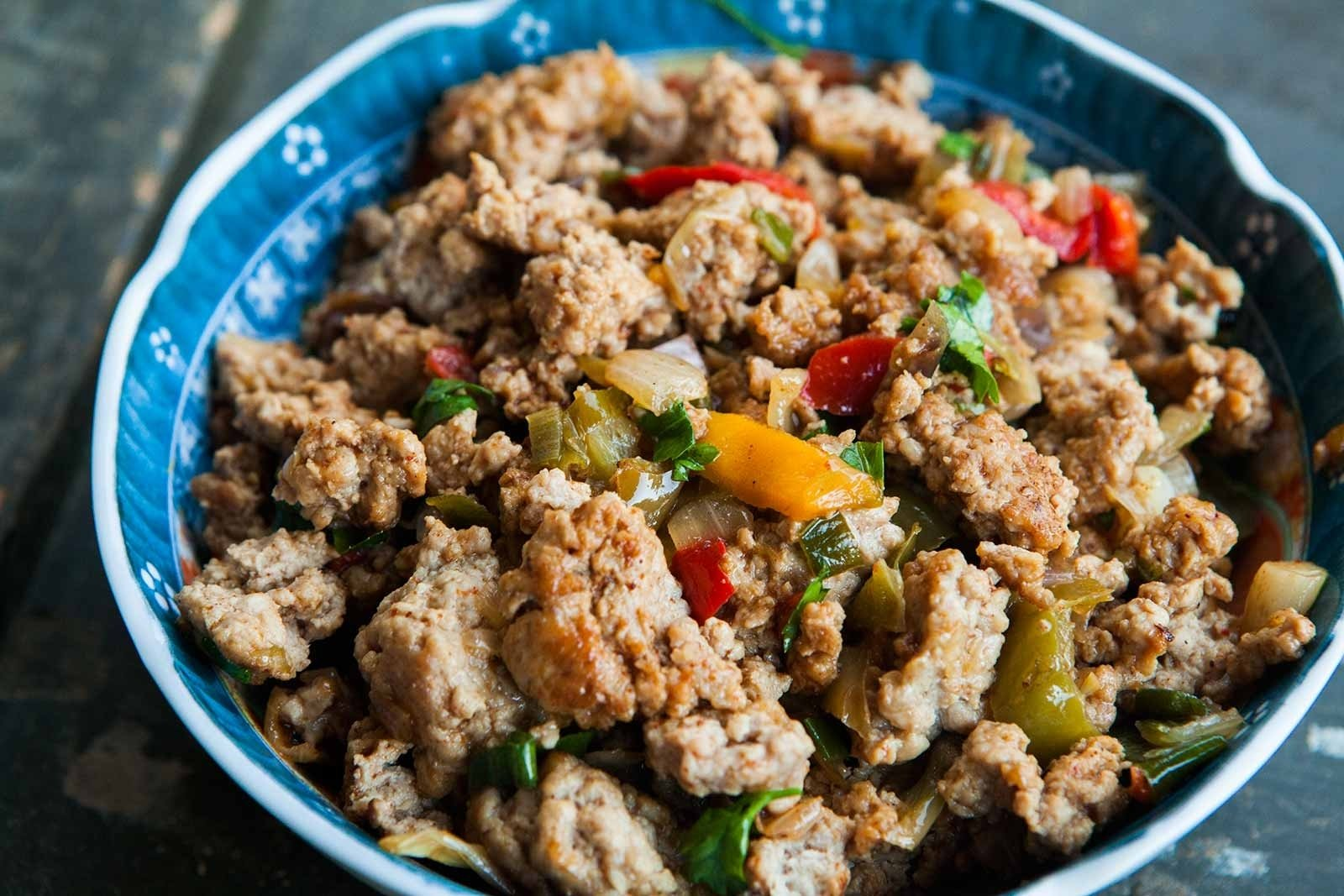 10 Pretty Dinner Ideas For Ground Turkey moms ground turkey and peppers recipe simplyrecipes 1