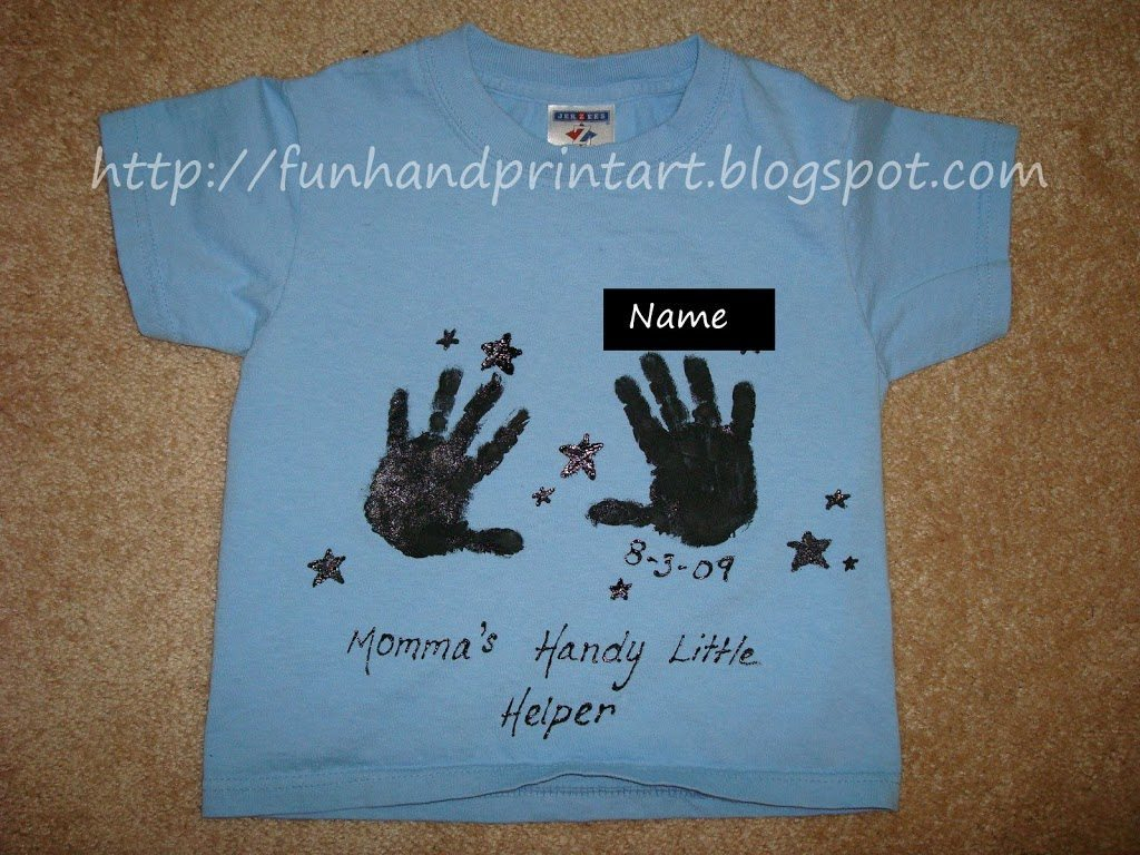 10 Wonderful T Shirt Decorating Ideas For Kids moms handy little helper t shirt craft fun handprint art 2020