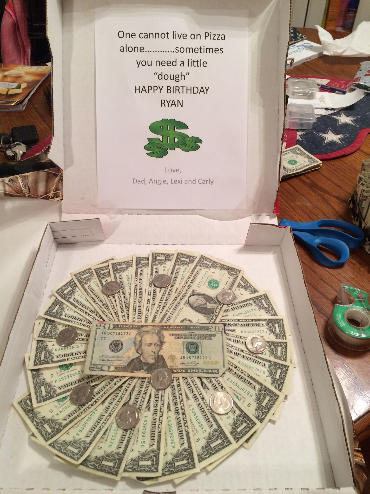 money pizza for the 16 year old. | birthday party ideas | pinterest