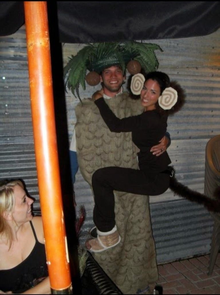 10 Fashionable Best Couples Halloween Costume Ideas monkey and palm tree couple halloween costume halloween 2