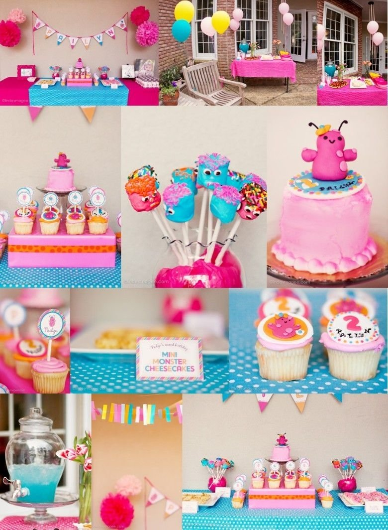 10 Beautiful Ideas For 3 Year Old Birthday Party monster birthday party ideas for girlthis would work great for 3 2020