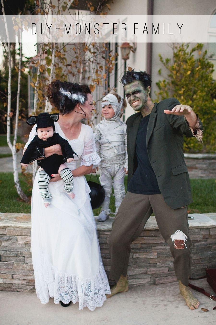 10 Perfect Bride Of Frankenstein Costume Ideas monster family costume diy monsters costumes and chocolate 2021