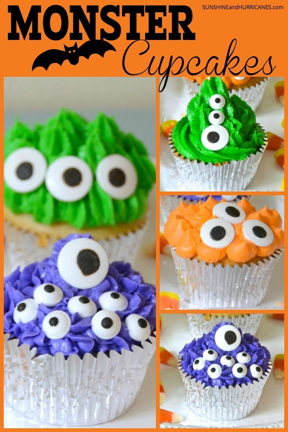 10 Elegant Halloween Cake Ideas For Kids monster halloween cupcakes 1 2020