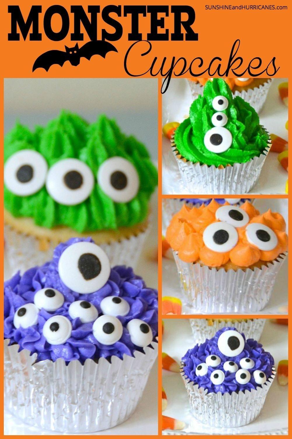 10 Best Halloween Cupcake Ideas For Kids monster halloween cupcakes 2020