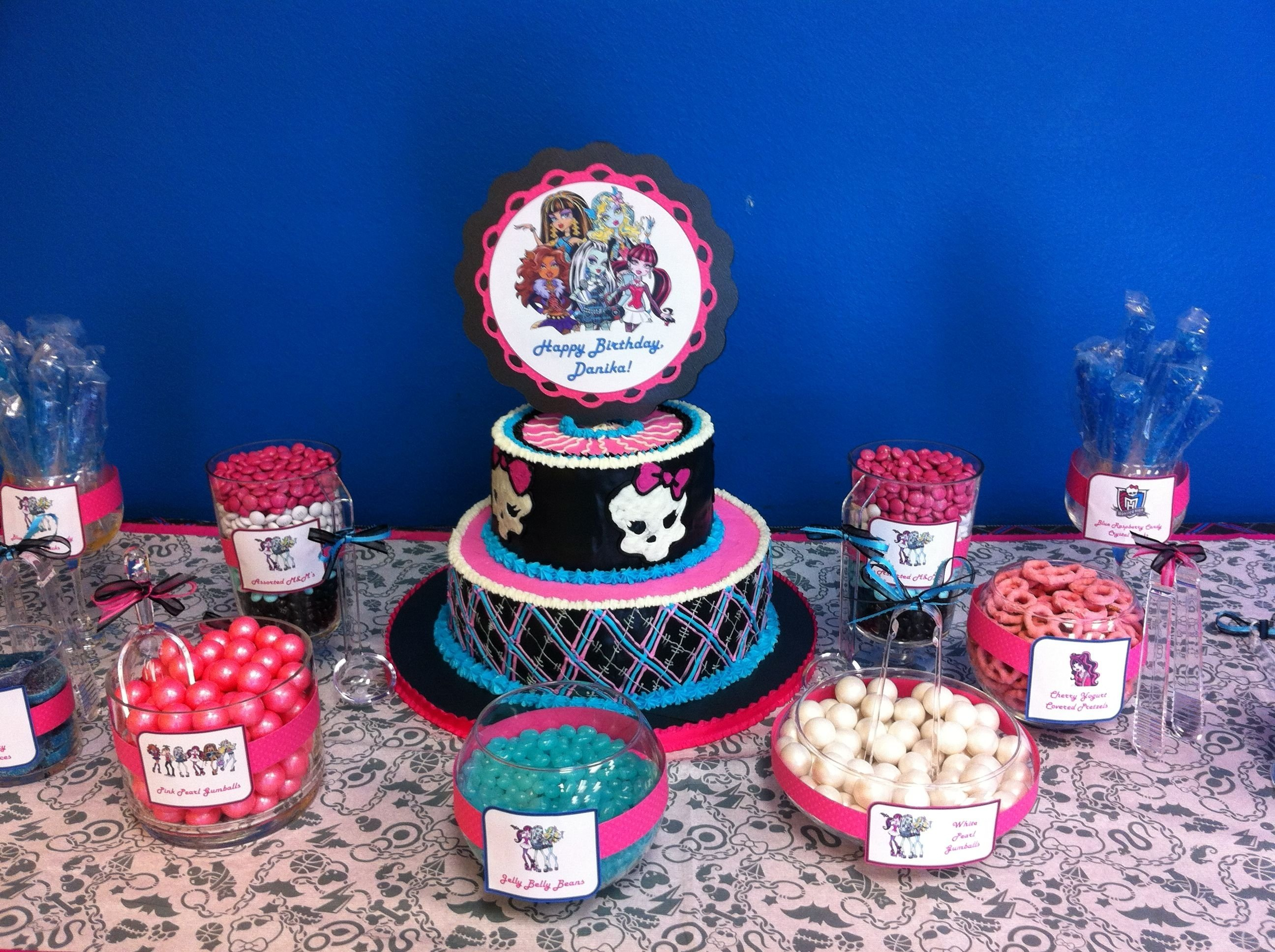 10 Fabulous Monster High Ideas For Birthday Party monster high birthday party ideas monster high birthday candy 2020