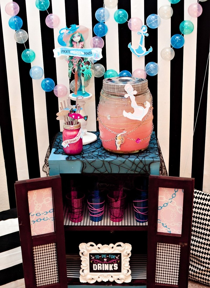 10 Fabulous Monster High Ideas For Birthday Party monster high birthday party part 3 haunted drink station 2020