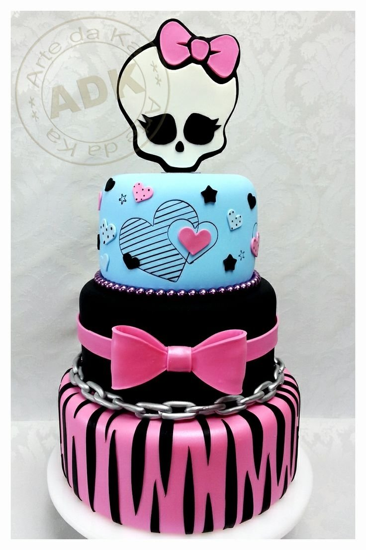 10 Lovable Monster High Birthday Cake Ideas monster high cake lily halloween pinterest monster high 2020