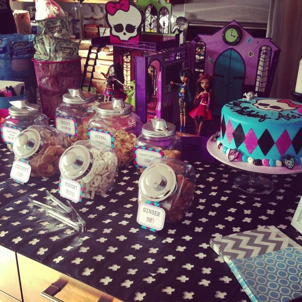 10 Lovely Monster High Party Food Ideas monster high fearleading camp birthday party ideas photo 10 of 23 2020