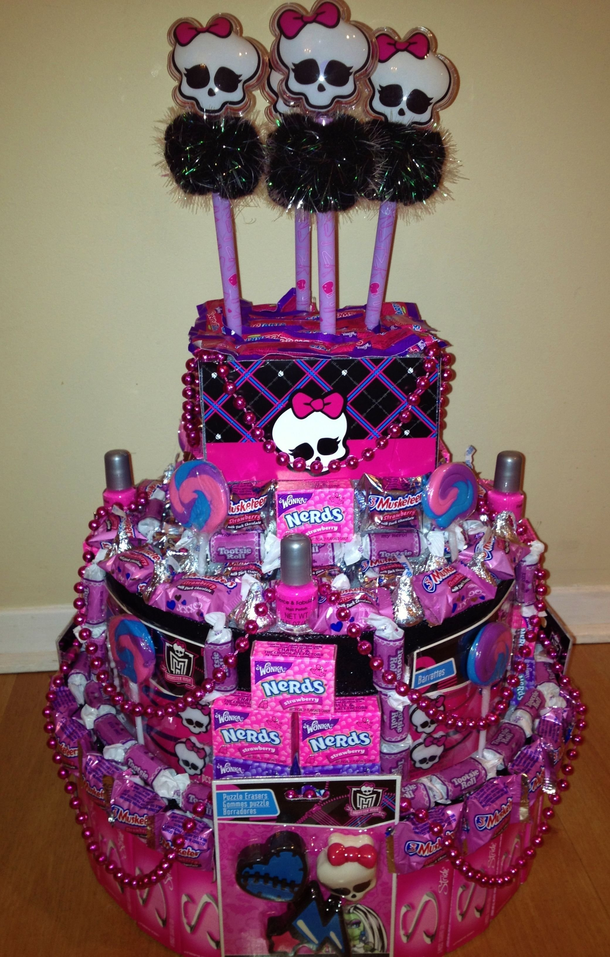 10 Lovely Monster High Party Food Ideas monster high party monster high party favors candy centerpieces 2 2020