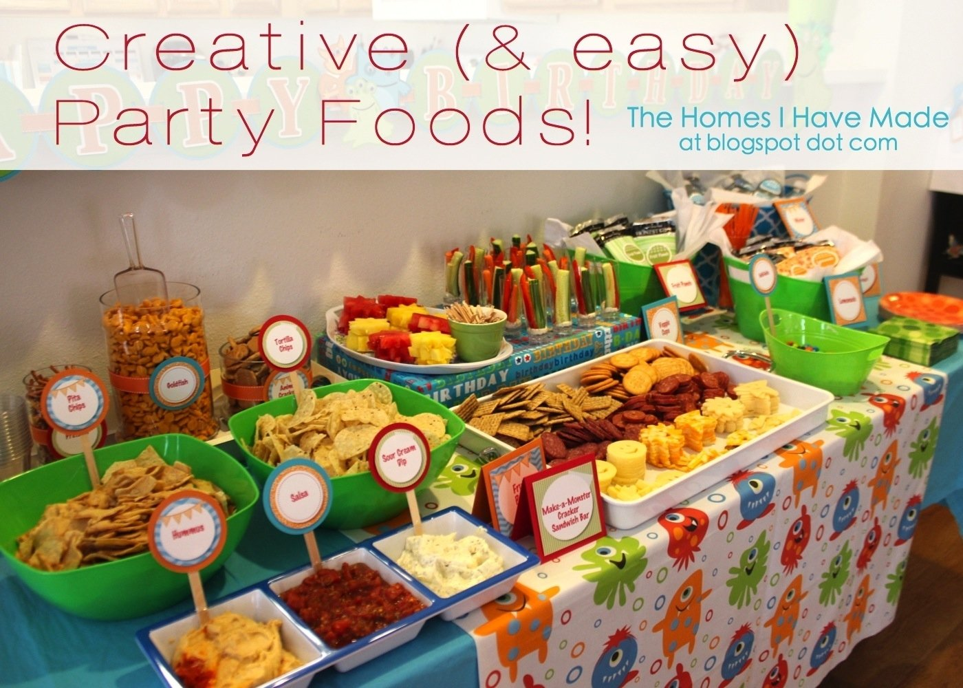 10 Beautiful Kid Birthday Party Food Ideas monster party spotlight on food monster party spotlight and 2