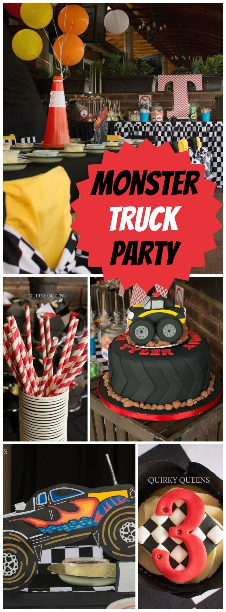 "monster truck party / birthday ""tyler's monster truck party"