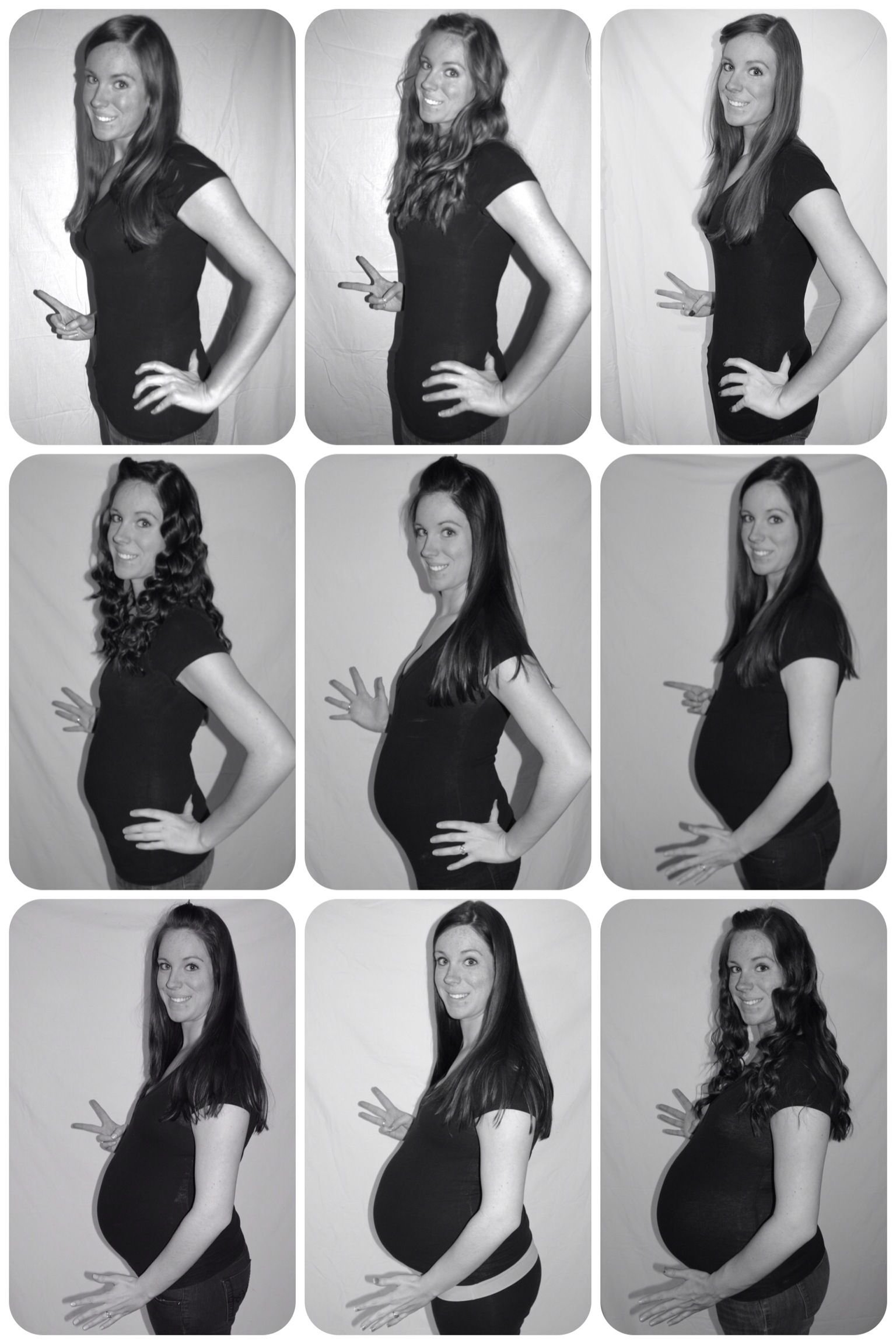 monthly pregnancy pictures. | pregnancy | pinterest | pregnancy