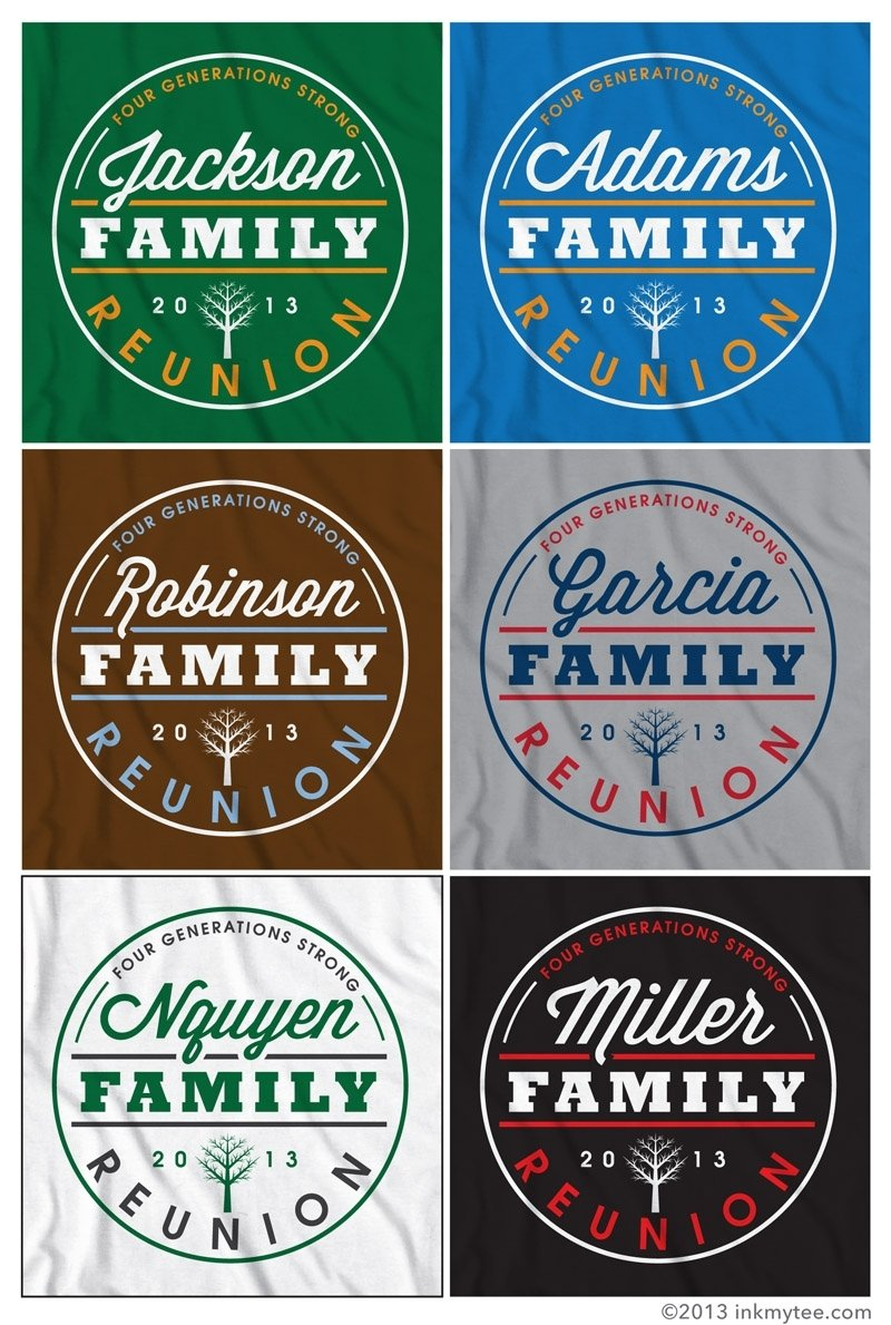 10 Most Popular Family Reunion T Shirt Designs Ideas more free family reunion t shirt design options ink my tee blog 2021
