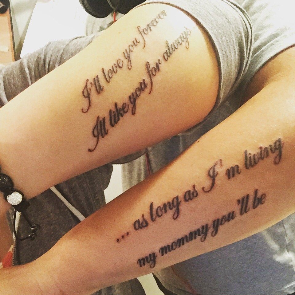 10 Fabulous Mother And Son Tattoo Ideas mother and son tattoo from his favorite story tats pinterest