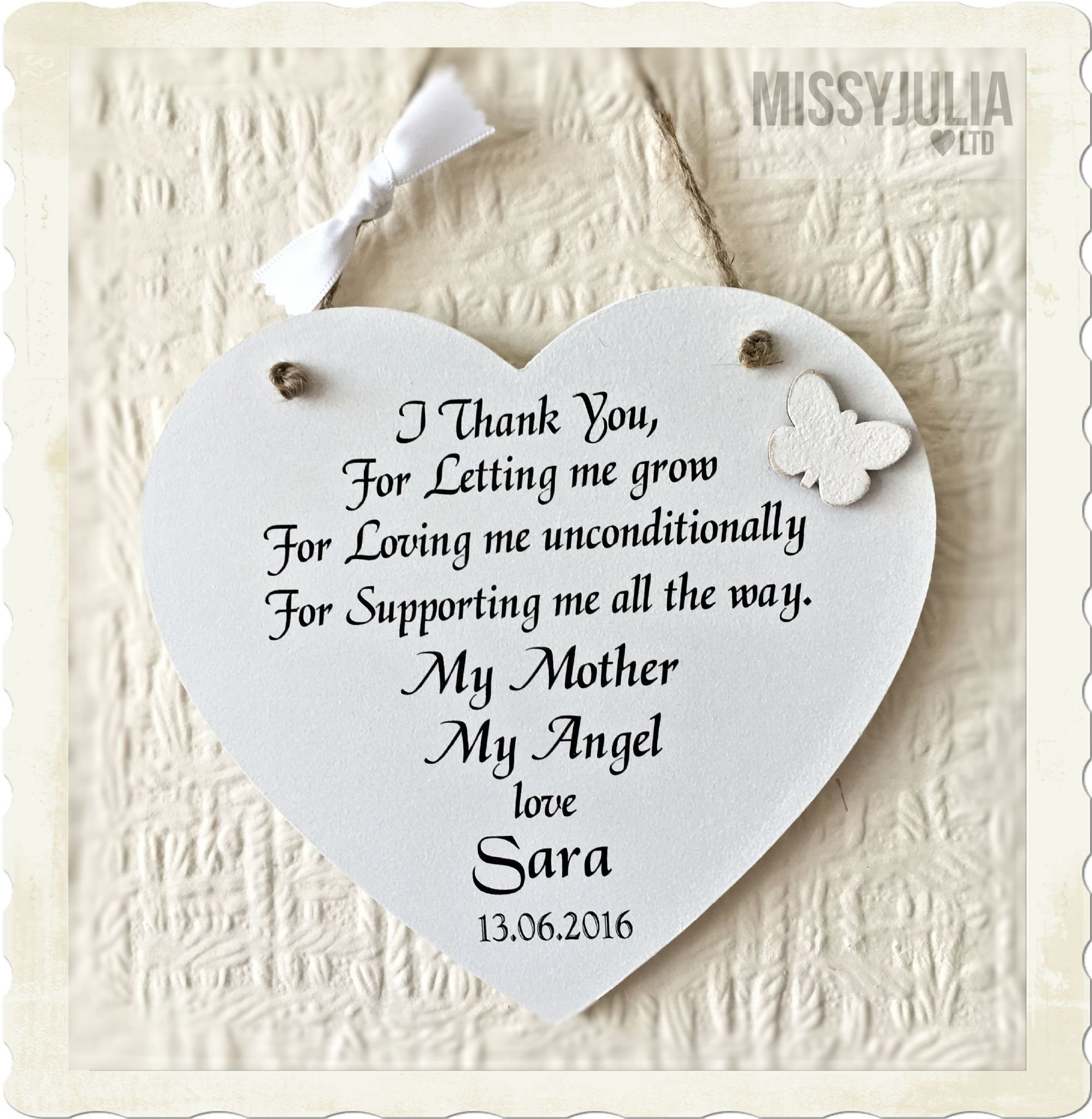 10 Lovable Mother Of The Groom Gift Ideas mother of the bride mum personalised heart wooden wedding rustic 2020