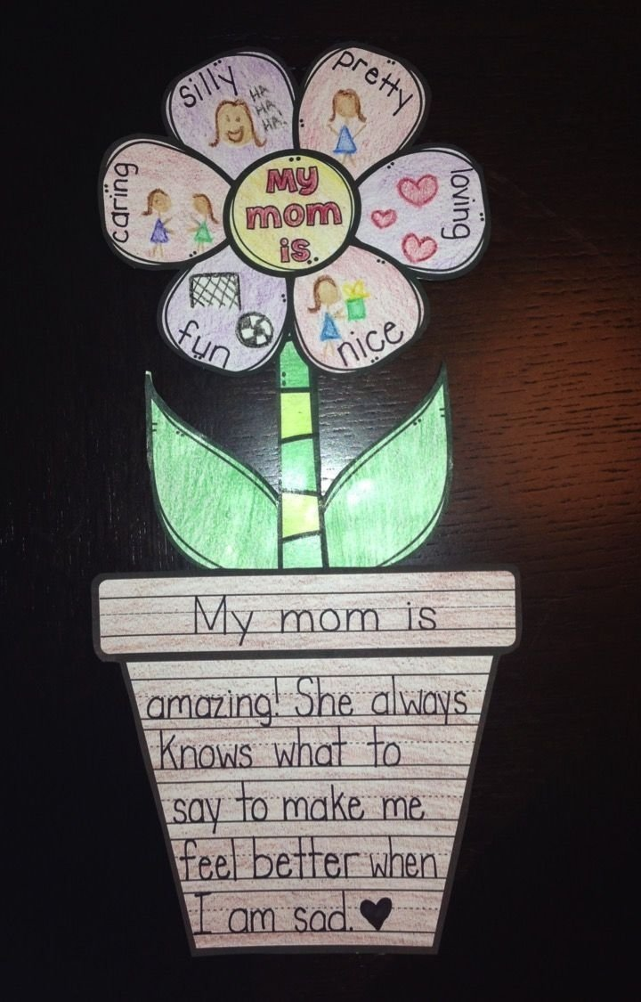 10 Awesome Cute Mothers Day Craft Ideas mothers day activity flower writing craft activities flower