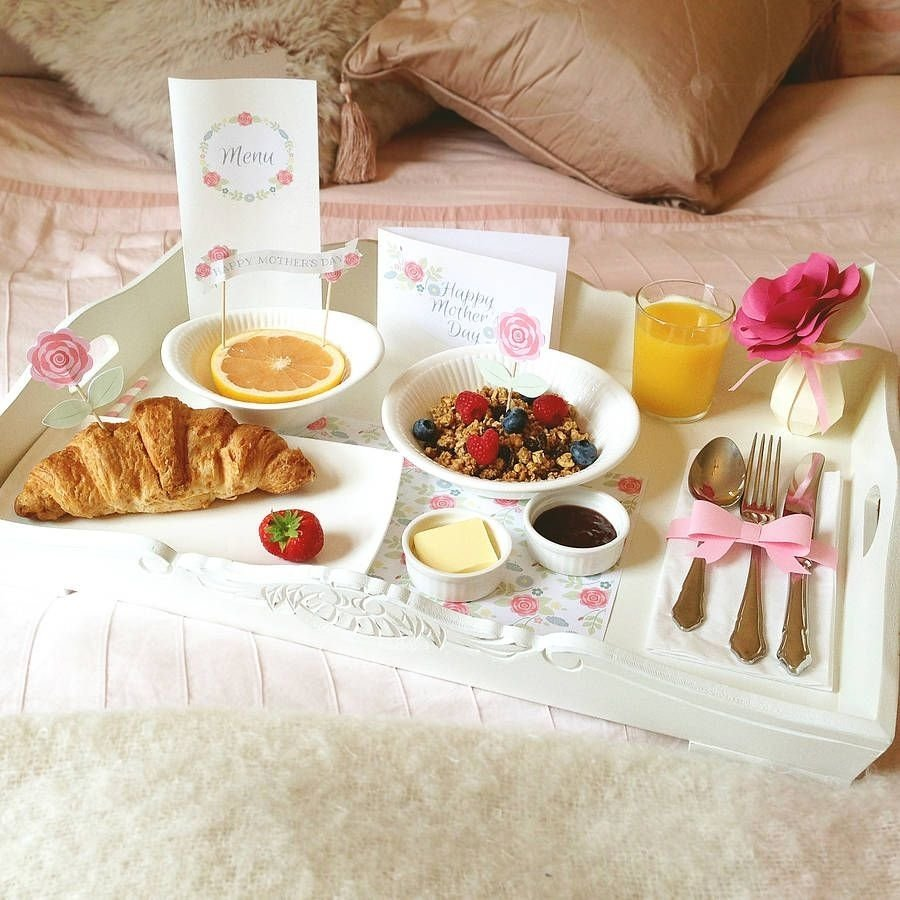 10 Gorgeous Romantic Breakfast In Bed Ideas mothers day breakfast in bed kit food brunch and food ideas