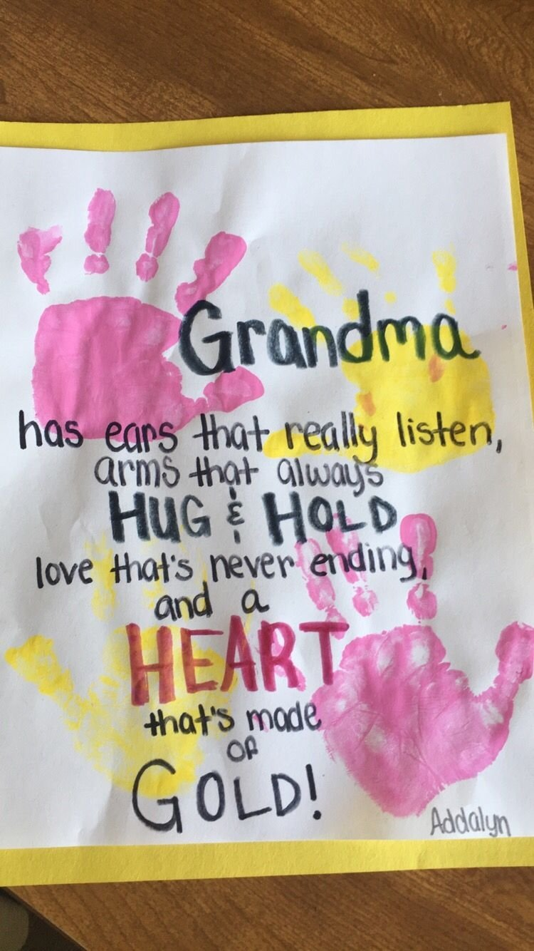 10 Lovely Birthday Gift Ideas For Grandma Mothers Day Crafts Crafting Issue Activities