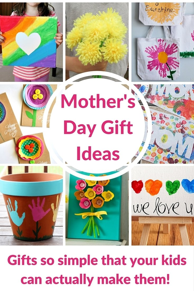 mother's day gift ideas for kids - these are diy crafts that your