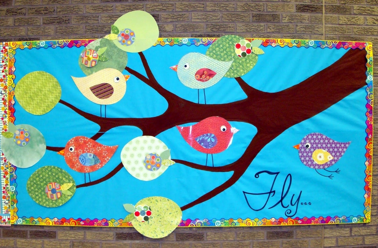 10 Most Popular Bulletin Board Ideas For Spring motivational spring birds classroom bulletin board idea supplyme