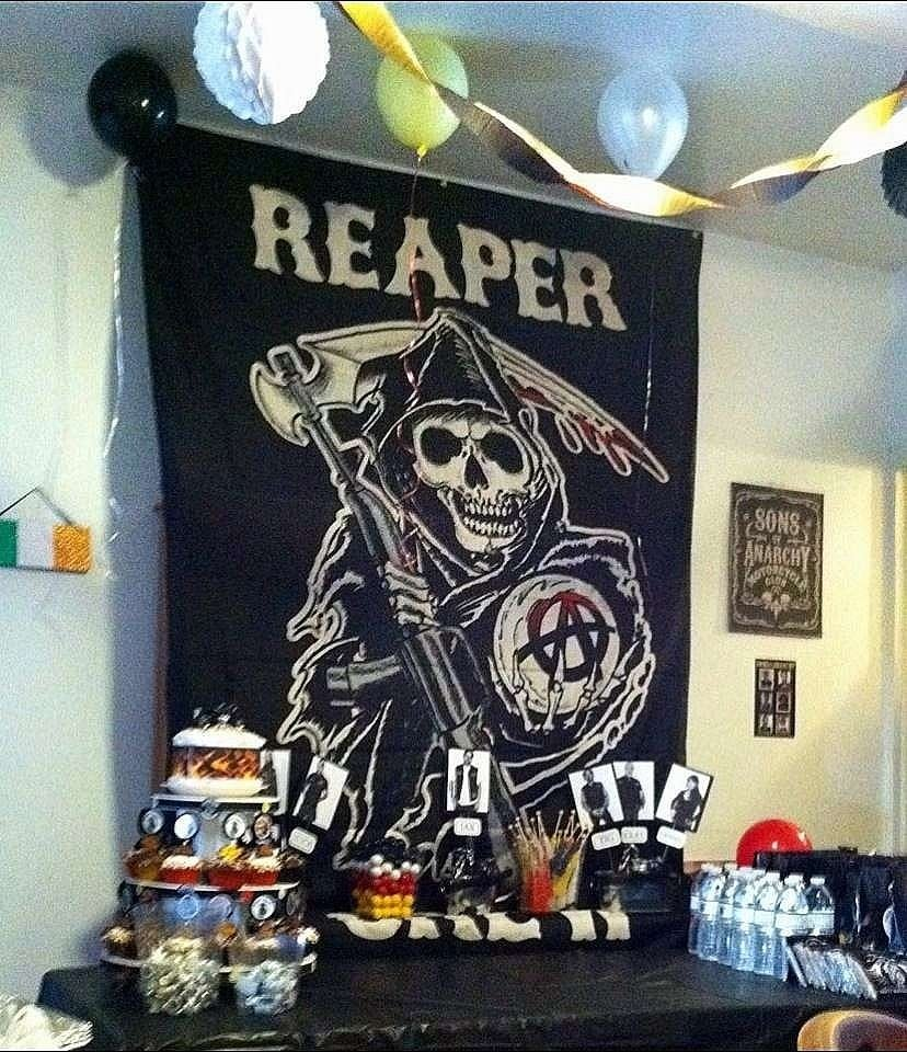 10 Stunning Sons Of Anarchy Party Ideas motorcycle birthday party ideas photo 44 of 44 catch my party 2021