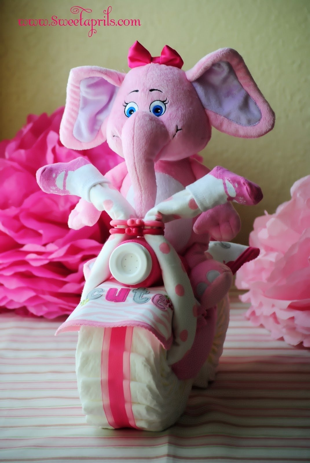 10 Nice Baby Girl Shower Gift Ideas motorcycle diaper cake diaper motorcycle how to make a diaper cake 2021