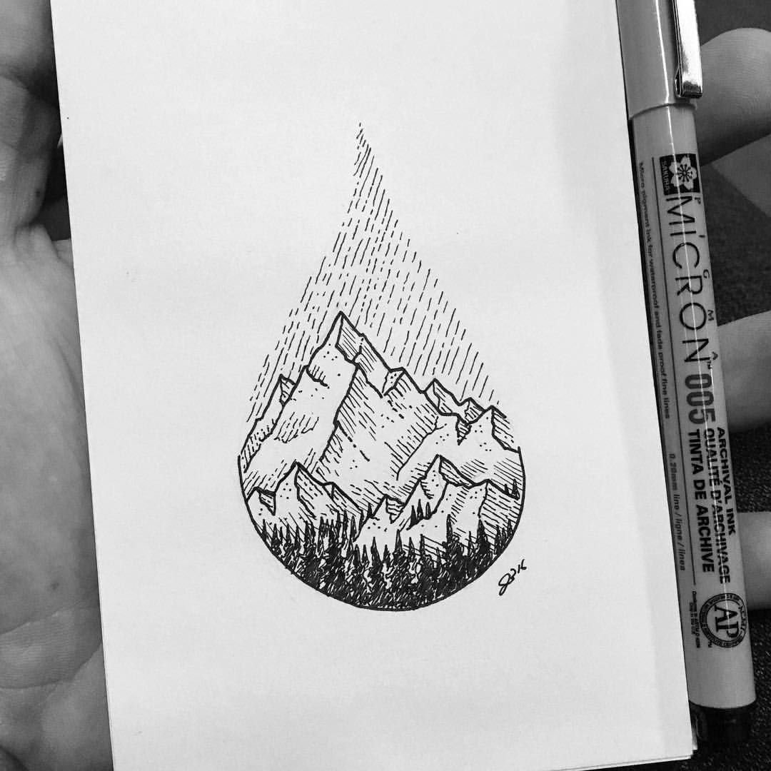 10 Pretty Ideas For What To Draw mountains sharpie drawing drawings pinterest sharpie drawings 2020