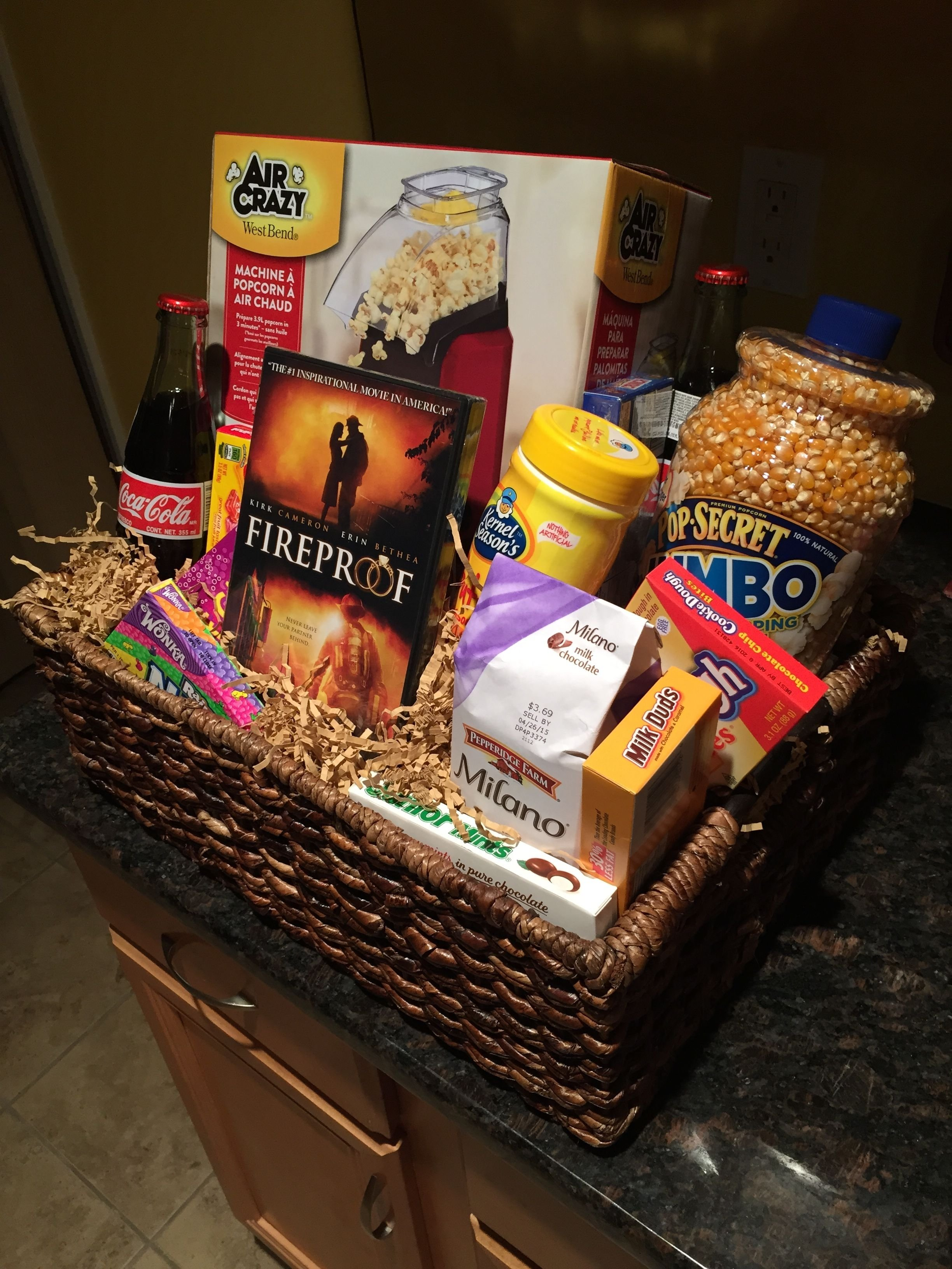 10 Best Ideas For Gift Baskets For Fundraisers movie night basket for a silent auction or fundraiser gifts 2021