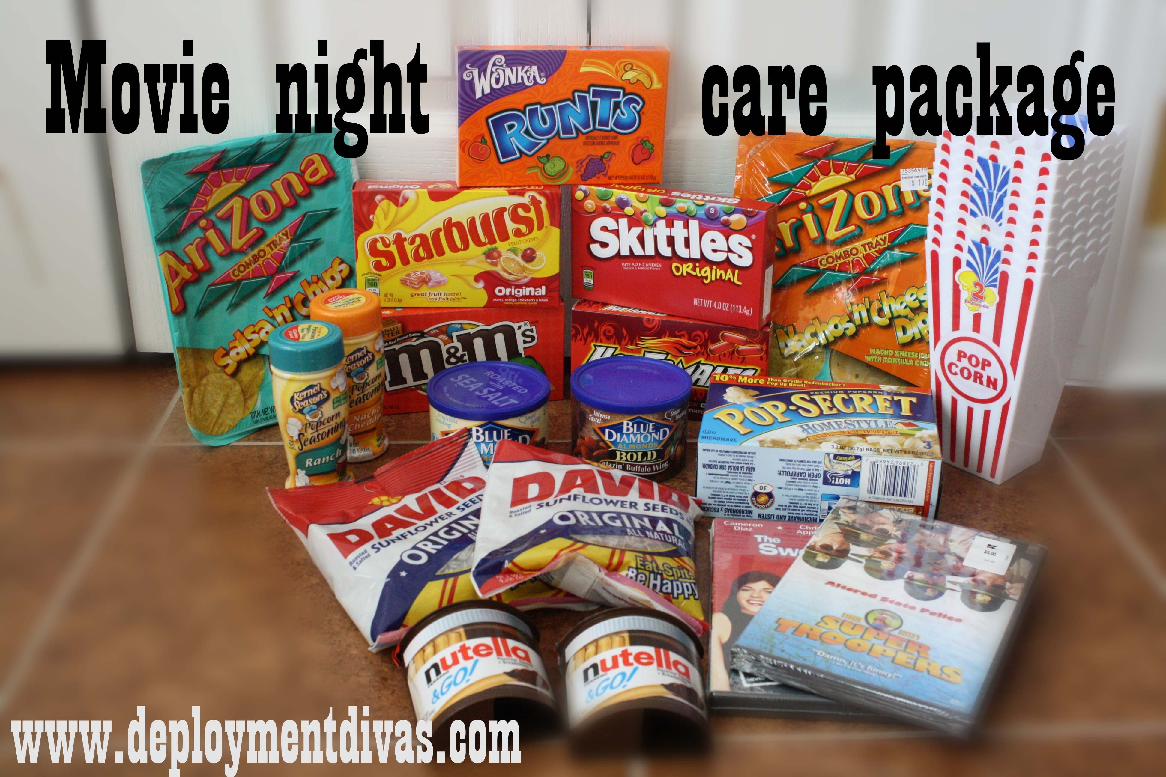 10 Spectacular Care Package Ideas For Deployed Soldiers movie night care package military gifts pinterest creative and 2021