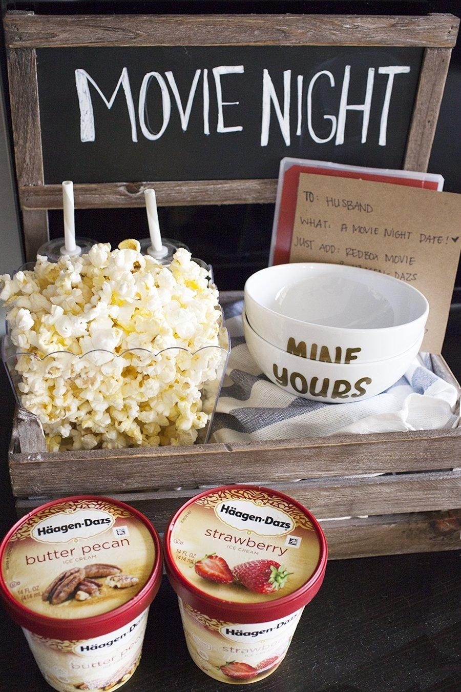 10 Best Date Night At Home Ideas movie night date crate
