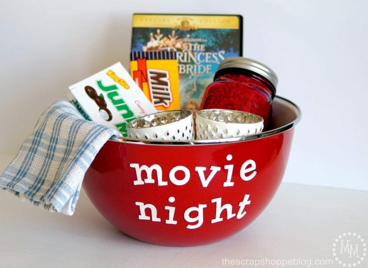 10 Best Date Night Gift Basket Ideas movie night gift idea the scrap shoppe 1