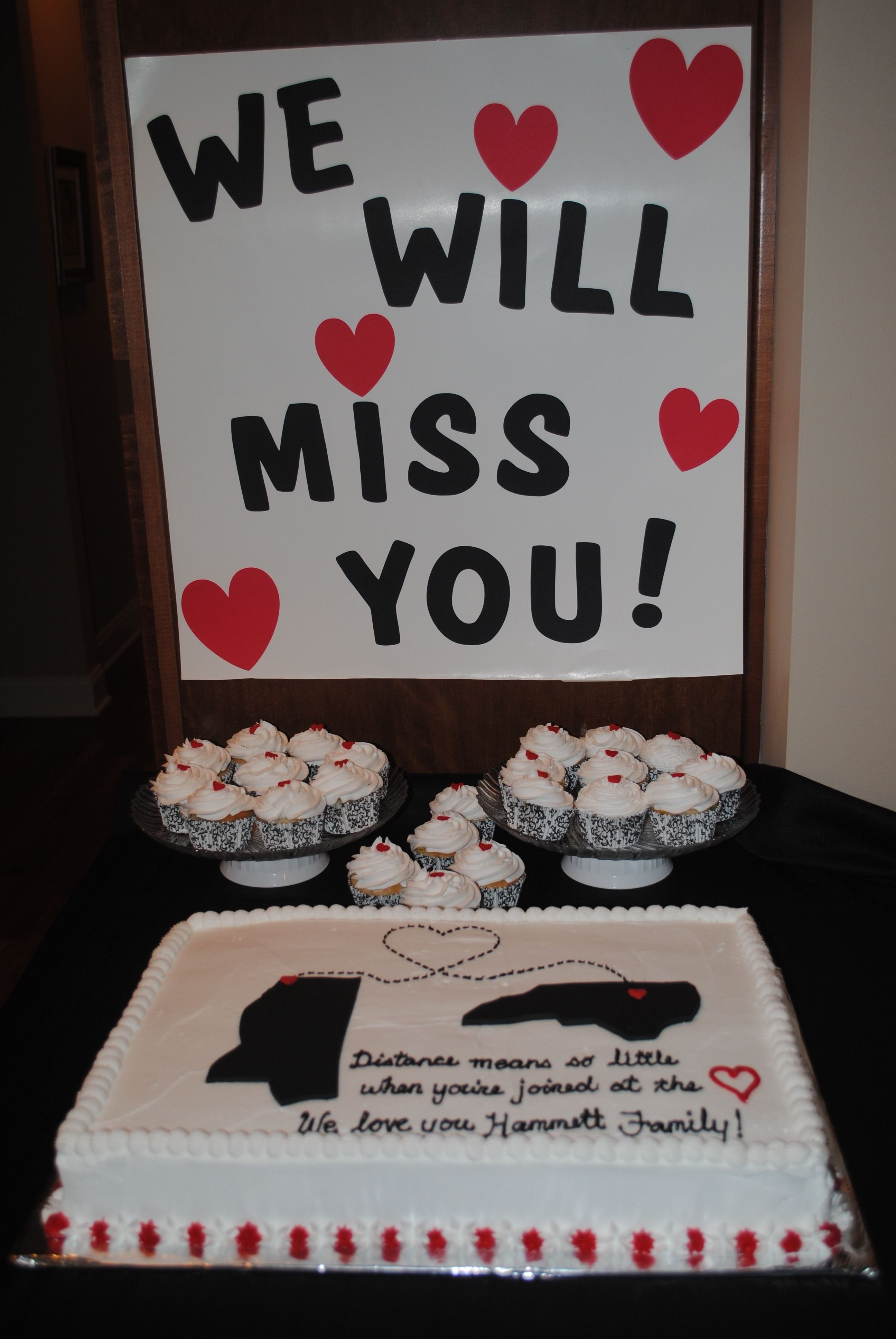 10 Awesome Ideas For A Going Away Party moving away to another state with cake sign and cupcakes distance 2020