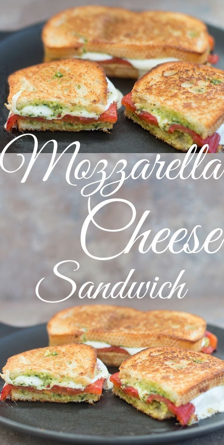 mozzarella cheese sandwich with roasted red pepper | recette