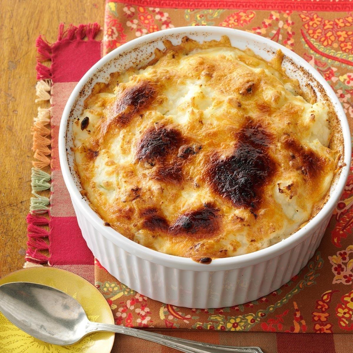 10 Unique Ideas For Leftover Mashed Potatoes mozzarella mashed potato remix recipe taste of home 2021