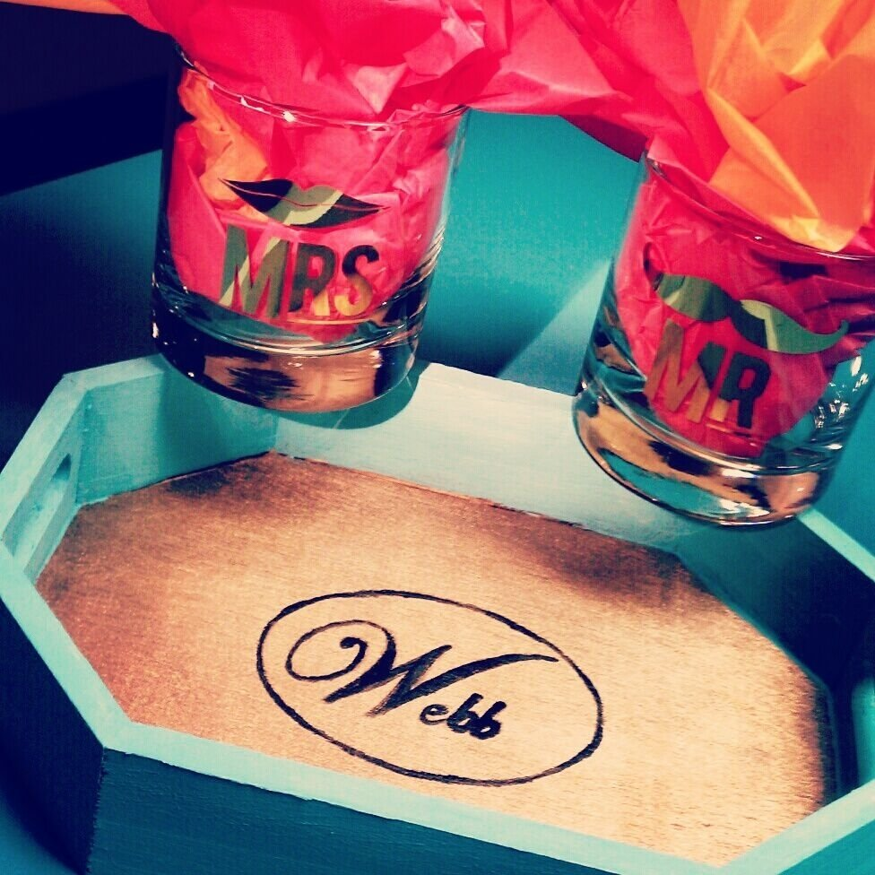 10 Gorgeous Stock The Bar Party Gift Ideas mr and mrs glasses from http www furbishstudio and diy 2021